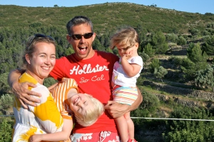 The Horner family in Spain