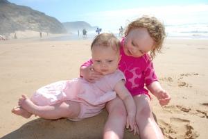On the beach at Cordoama