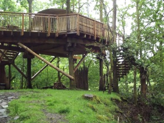 Living Room Treehouse Machynlleth Wales
