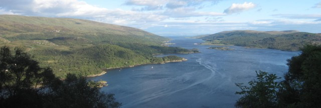 View over the Kyles of Bute