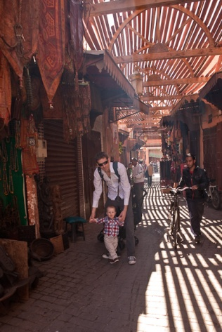 Exploring the souks, Marrakech