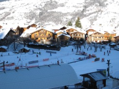 Ski-school, Montchavin Les Coches, France