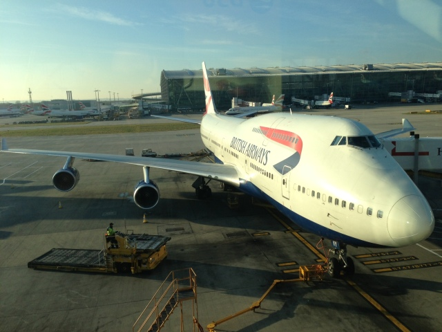 British Airways jumbo