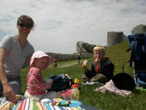 Picnic at Corfe Castle