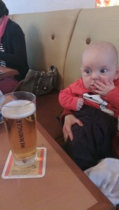 A cheeky beer