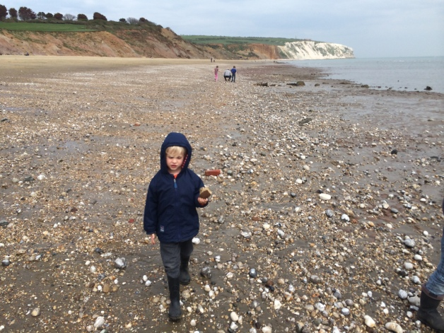 Hunting for fossils, Sandown