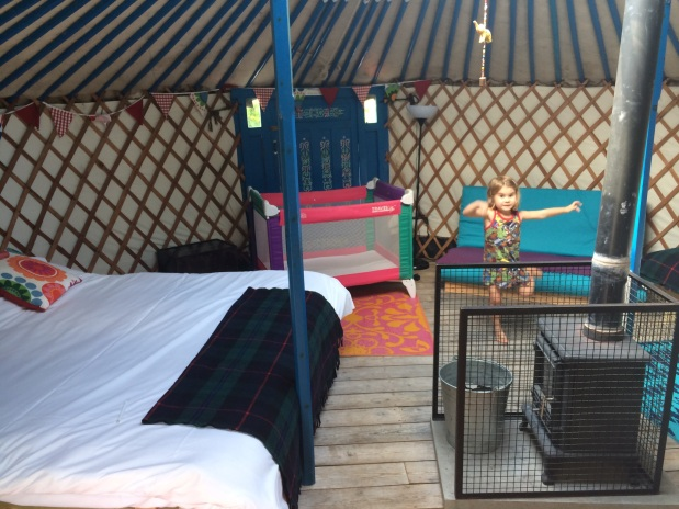 Yurt interior, Meon Springs