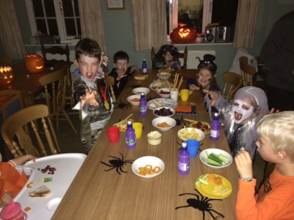 Hallowe'en tea, YHA Thurlby