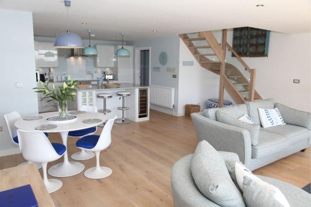 Living area, The Glasshouse, Devon