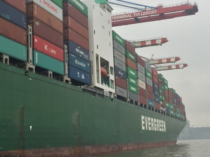 Getting up close and personal with the cargo ships