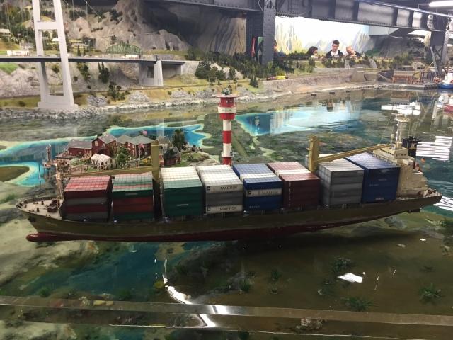 Hamburg harbour, in miniature