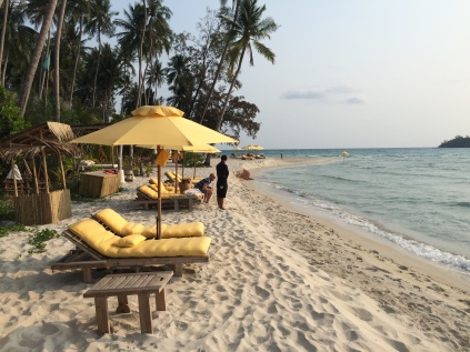 Gorgeous main beach, Soneva Kiri