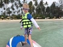 Learning to windsurf, Soneva Kiri