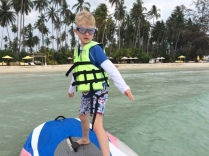 Learning to windsurf, Soneva Kiri