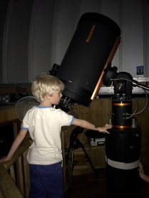 Leo in the observatory, Soneva Kiri