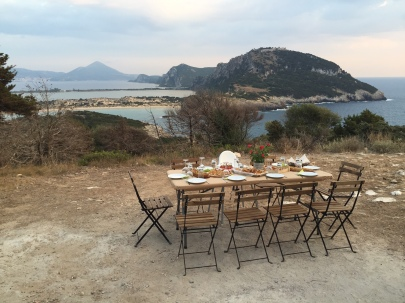 Sunset picnic, Costa Navarino
