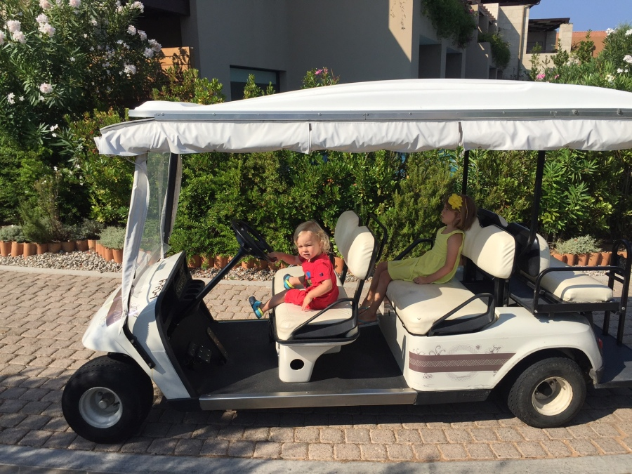 Golf buggies! Costa Navarino