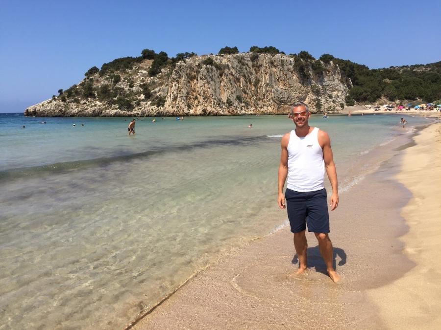 On Voidokilia Beach