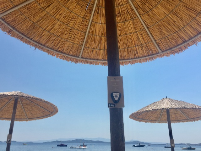 Beach service at Eagles, Halkidiki